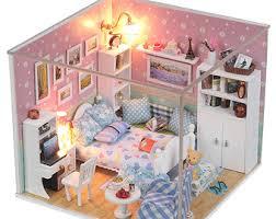 diy glass villa miniature kit handmade dollhouse handcraft kit