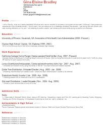 Resume Profile Instance Example