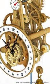 wooden gear clock plans free dxf plans diy how to make