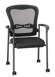 Desk Chair With Arms And Wheels by Office Star 84540 Titanium Finish Office Guest Chairs With Wheels