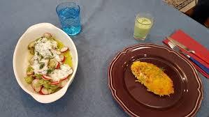 gewusst wie rachs 5 küche seelachs in der kartoffelkruste mit radieschen gurken salat