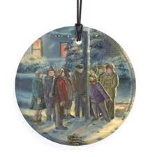 Flagpole Christmas Tree by Thomas Kinkade Flag Pole Glass Ornament