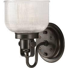 Home Depot Bathroom Vanity Lights Bronze by Shop Progress Lighting Archie 1 Light 8 25 In Venetian Bronze Bowl