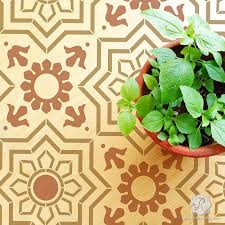 floor stencils great stencil ideas for painting floors royal
