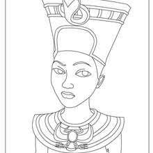 PHARAOH KHUFU For Children HATCHEPSUT The Female Pharaoh Free Coloring Page