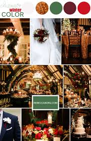 Astonishing Red Green Gold Color Palette Hunter Burgundy White Roses Wedding Ideas Alliswelus
