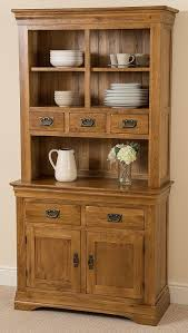 Ebay Uk China Cabinets by French Rustic Solid Oak Small Welsh Dresser Cabinet Wall Unit