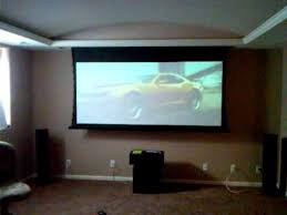projection screen that drops from soffit over flatscreen youtube