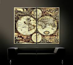 dekoration alte welt antik leinwand bilder schwarz braun