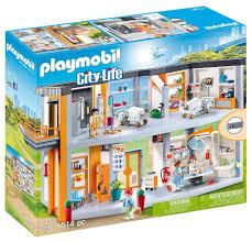 playmobil großes krankenhaus mit einrichtung 70190