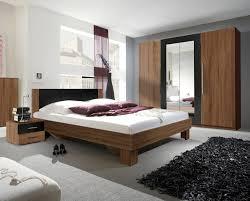 schlafzimmer set vera komplett 4 tlg bett 180x200cm kernnussrot schwarz