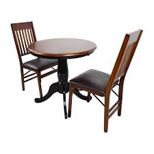 Pier 1 Dining Chairs by 69 Off Pier 1 Pier 1 Keeran Bistro Rubbed Black Round Table