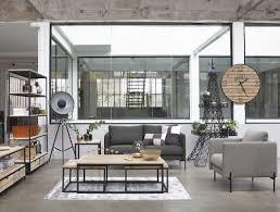 regal im industrial stil mit 2 schubladen aus massivem tannenholz und metall maisons du monde