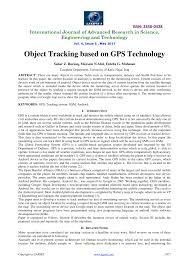 PDF Object Tracking Based On GPS Technology