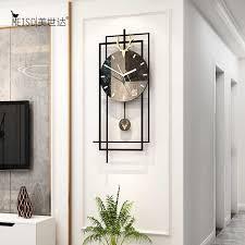 marmorierung stille wanduhr modern design home decor schaukel hängen uhr klassische wohnzimmer hause dekorative kunst uhr