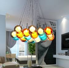 2015 Bocci Glass Ball Pendant Lamp Chandelier Of Colorful Spheres Modern Color Bubble LED