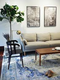 Crate And Barrel Petrie Sofa Look Alike by My Home Tour The Living Room U2014 Eliza Kern Design