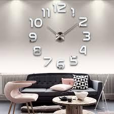 selling modern design home decorative diy wall clock acrylic mirror digital wall clock buy diy wall clock digital wall clock delta wall clocks