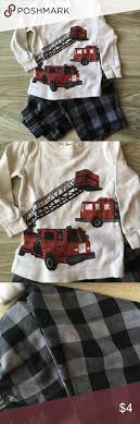Carter's Fire Truck Pajamas | Trucks, On And Sleeve