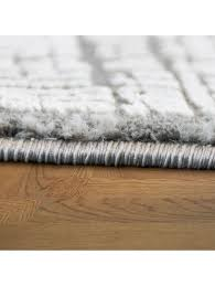 paco home designer wohnzimmer teppich hoch tief struktur modern vintage look in grau klingel