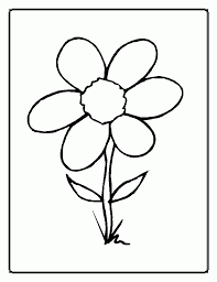 Flower Petal Template For Kids Garden Coloring Pages