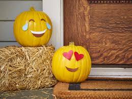 Eve Halloween Pumpkins House Decorated Pumpkins Стоковое фото