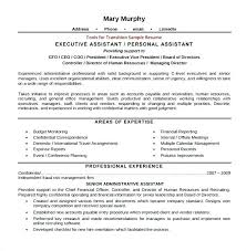 Resumes For Executive Assistants Administrative Assistant