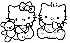 Coloring Pages Of Kitty And Friends To Color
