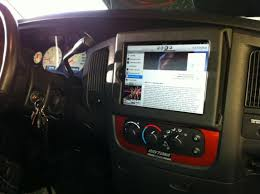 IPAD In Dodge Ram 1500 Dash - DodgeForum.com Ipad Iphone Android Mounts From Ipod And Mp3 Car Adapter Kits Accsories Ivapo Headrest Mount Seat Cars Seats Scion Tc Diy Incar Mount Apple Forum My Chevy Tahoe With Its New Ram Gallery Article Ipad Install Into Dash 99 F250 Ford Truck Enthusiasts Forums Ibolt Tabdock Flexpro Heavy Duty Floor For All 7 10 Holder 2 Thesnuggcom Canada Wall Tablet Display Stand Stands Enterprise Series Get Eld The Scenic Route Handy Mini Addons Wwwtrailerlifecom