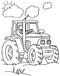 Coloriage Dun Tracteur Transportant Un Chargement De Paille