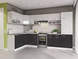 eldorado küche 330 cm schwarz l form küchenzeile eck küchenblock