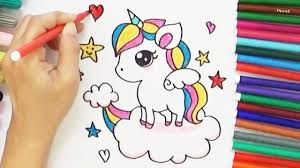 How To Draw A Cartoon Unicorn Cute And Easy