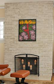 Photo Of Brick Ideas by Painted Fireplace Makeover
