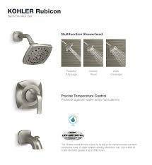 Kohler Bathtubs Home Depot by Kohler Rubicon 1 Handle 3 Spray Wall Mount Tub And Shower Faucet