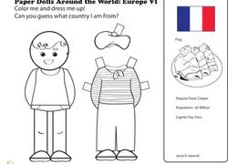 Paper Dolls Coloring Pages Printables
