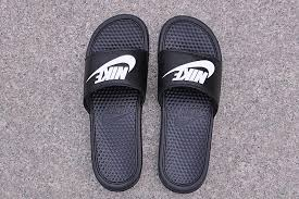 Nike Flip Flops Benassi JDI Slide Pool Slippers Beach Sandals Black
