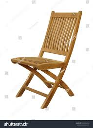 Single Folding Chair Natural Wood Outdoor Stock Photo (Edit ...