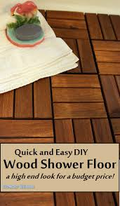 condo blues and easy diy wood shower floor tile