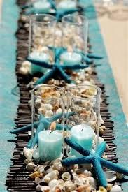 une décoration de mariage sur le thème de la mer de l océan ou de