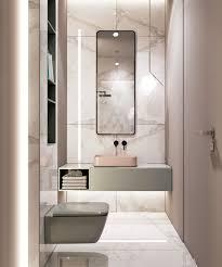 badezimmer aus weißem marmor wandfarbe calacatta
