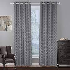naturer grau vorhang blickdicht ösenschal 145x140 kurz jacquard muster 2er set gardinen wohnzimmer thermo fenster gardinen blickdicht vorhänge