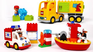 100 Toy Moving Truck Ambulance Delivery And Boat Building Blocks Playset For