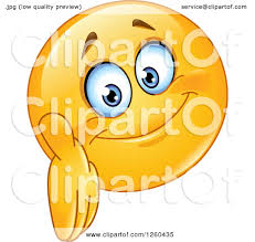 Clipart Of A Friendly Emoticon Smiley Face Reaching Out To Shake Hands