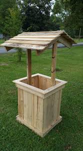 Decorative Outdoor Well Pump Covers by Wishing Well Out Of Pallets Pallet Furniture
