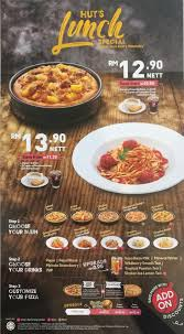 Pizza Hut Lunch Set For RM12.90 Nett Only