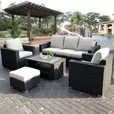 Outsunny Patio Furniture Cushions by Fds 7pc Rattan Outdoor Garden Furniture Patio Corner Sofa Set Pe