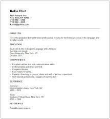 Resume Examples Recent Graduate Sample