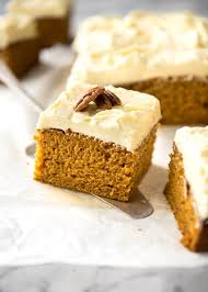 Pumpkin Cake Mix Bars by Pumpkin Cake With Cream Cheese Frosting Recipetin Eats