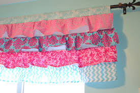 Pink Ruffled Window Curtains by Pink And Turquoise Girls Bedroom A Vision To Remember All