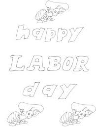 Free Printable Labor Day Coloring Page Sheets For Kids 4